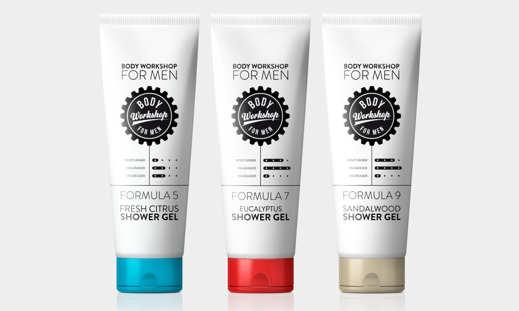 Mens Body Care Packaging Design