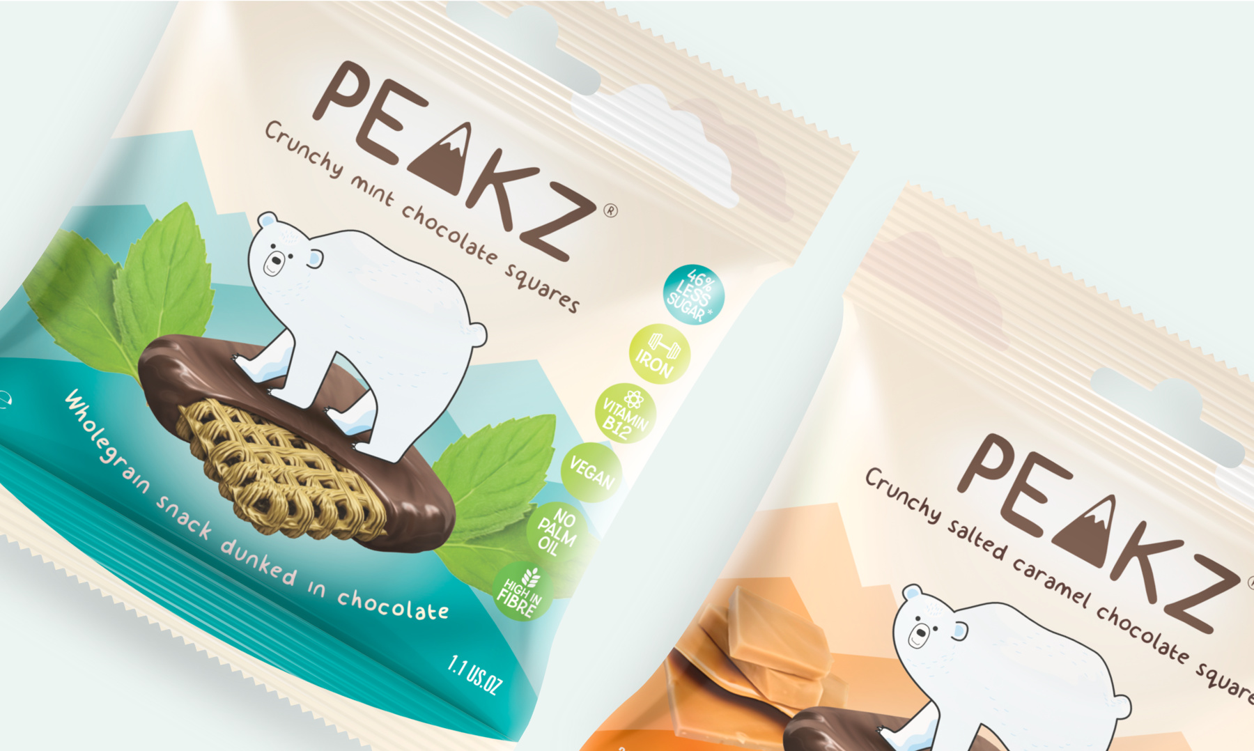 Healthy snack food packaging design